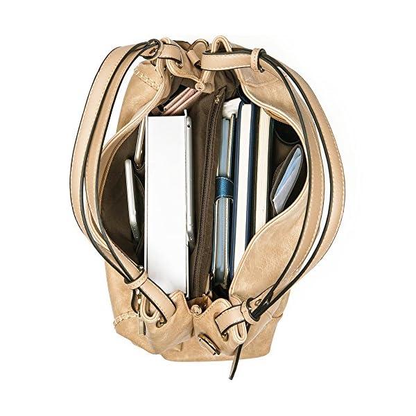 e0ea88bc45 JOYSON Women Handbags PU Leather Shoulder Bags Top-Handle Satchel Tote Bags  Purse