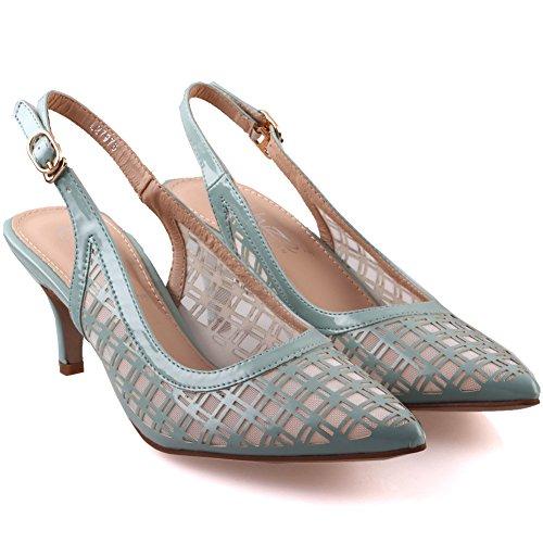 Unze Zapatos de punta judiciales diseñadas Mujeres Naeci ' Verde