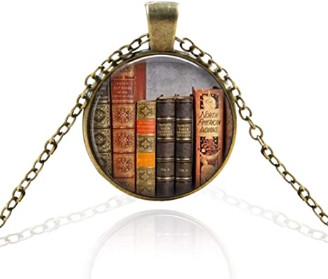 SHH Librarian Necklace Library Literary Jewelry