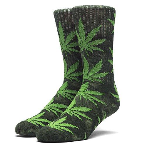 HUF Men's Tie-Dye Plantlife Sock, Green, - High Street Newbury Shops