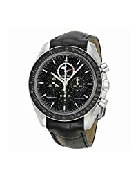 Omega Speedmaster Chronograph Black Leather Mens Watch 31133443201001