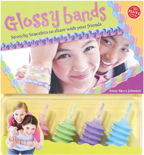 Klutz Glossy Bands: Stretchy Bracelets to Share with Your Friends Craft Kit