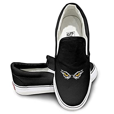 PTCY Wisdom Eyes Skate Unisex Flat Canvas Shoes Sneaker Black