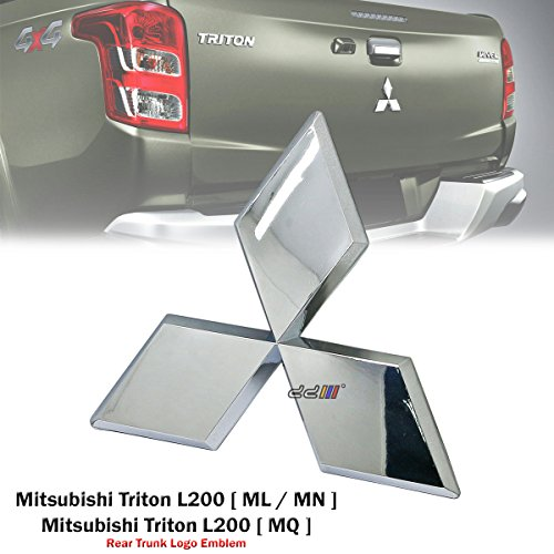 Rear Trunk Chrome Logo Emblem Badge For Mitsubishi Triton L200 ML MN MQ Pickup UTE 2005-ON