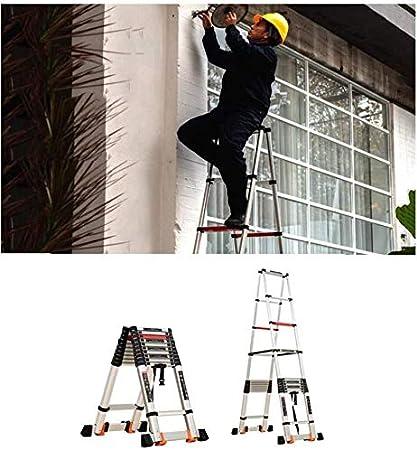 HL-TD Escaleras Extensibles Escalera Plegable De Aluminio De Extensión Plegable Escalera Telescópica Escaleras Rectas Telescópicas Heces (Size : 3.6+3.6M-A-TypeLadder): Amazon.es: Hogar