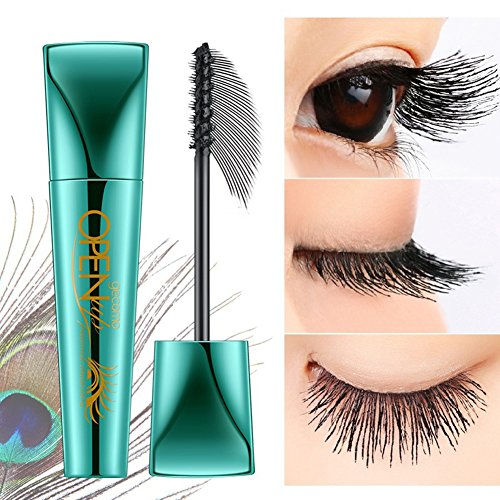 856store Fashion Hot 9ml Curly Thick Waterproof Eyelashes Mascara Anti-Smudge Long Lasting Makeup (Best Anti Smudge Mascara)