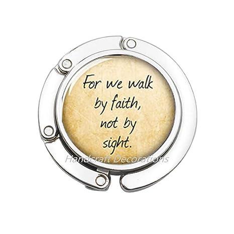 Amazon.com: Gancho para monedero, para caminar por la fe, no ...