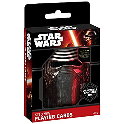 """Star Wars """"The Force Awakens"""" Kylo Ren Playing Cards in Collectible Tin"""