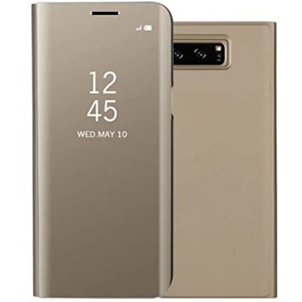 on sale ee5ff 712c6 Galaxy J7Max Case, Translucent Window View Flip Wallet Stand Cover, Plating  Make Up Mirror, TAITOU Smart Sleep/Awake Hard Case For Samsung Galaxy J7 ...