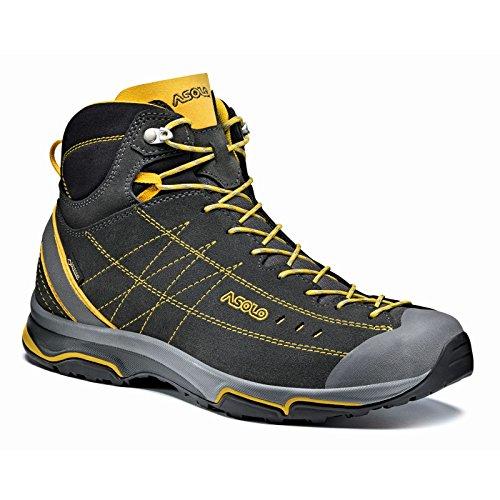 (Asolo Nucleon Mid GV Hiking Boot - Men's Graphite/Yellow, 12.0)