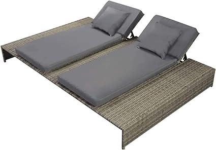 L/'aluminium chaise de plage de jardin transat plage tapis chaise longue Marquise