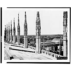 Photo: Duomo di Milano,Dettagli,spires,pillar,roof,cathedral,religious,Milan,Italy,1860
