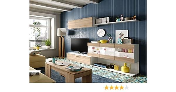 Mobelcenter - Salon comedor con Leds Canadian y Blanco - 260 cm (0914)