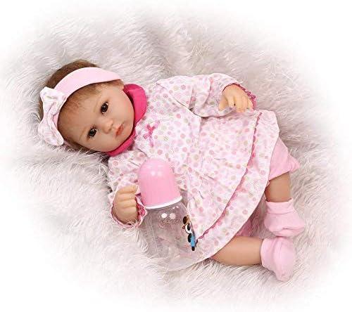 Herboren Poppen, Simulatie 16 Inch / 40 Cm Wedergeboorte Babypop Kinderen Speelgoed Ledematen Siliconen Doek Lichaam Wedergeboorte Pop Gift, Verzorgende Poppen