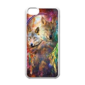 LJF phone case C-Y-F-CASE DIY Wolf Dream Catcher Pattern Phone Case For phone iphone 4/4s