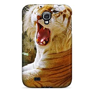 New NikRun Super Strong Golden Tiger Hdtv 1080p Tpu Case Cover For Galaxy S4