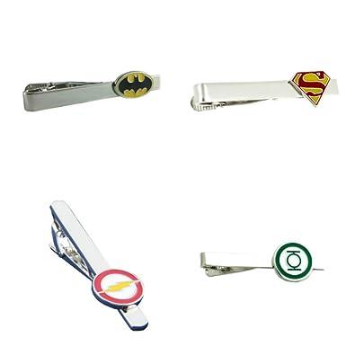 DC Comics (4-Set) superhéroe logo de hombre/niños corbata Clip Tie ...