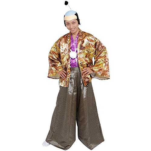 Patymo Japan Castle Lord -- Samurai Lord Costume -- One Size Fits All - Kabuki Costume
