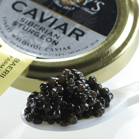 (Marky's Siberian Sturgeon Caviar - 1 oz - Premium Seberian Sturgeon Malossol Black Roe - GUARANTEED OVERNIGHT )