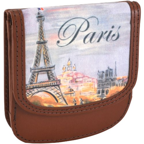 TAXI WALLET Paris Small Folding LEATHER Minimalist Card Wallet for Women Coin Purse