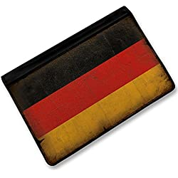 RFID Passport Holder Germany Flag with a vintage look, Cover Case / Wallet - Ne