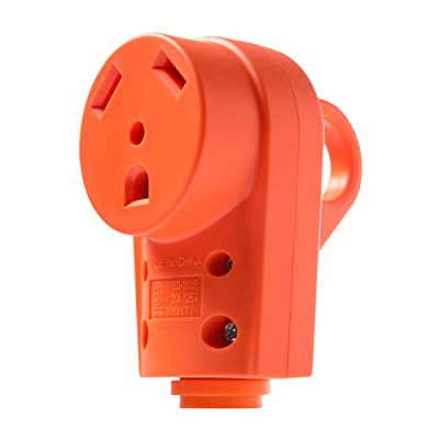 MICTUNING 125V 30Amp Heavy Duty RV Female Replacement Receptacle Plug with Ergonomic Handle: Automotive