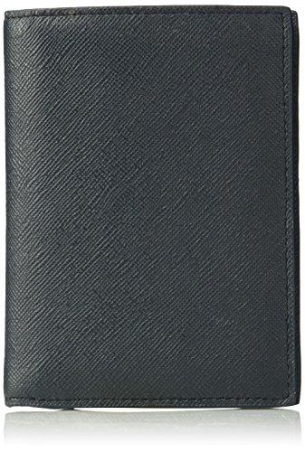 Bi Color Wallet - Armani Exchange Men's Bicolor Saffiano Wallet With Coin Pocket