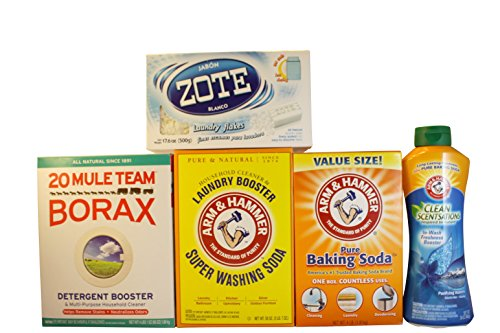 Complete do it yourself laundry soap kit zote soap flakes borax complete do it yourself laundry soap kit zote soap flakes borax washing soda baking soda arm hammer in wash freshness scent boster buy online in solutioingenieria Image collections