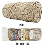 TOUGH-GRID 550lb Desert Camo Paracord/Parachute Cord - 100% Nylon Genuine Mil-Spec Type III Paracord Used by The US Military - Great for Bracelets and Lanyards - Made in The USA. 50Ft. - Desert Camo