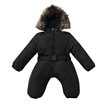 9bb8ccd1b Amazon.com  Winter Coat Romper for Toddler Baby Boys Girls Long ...