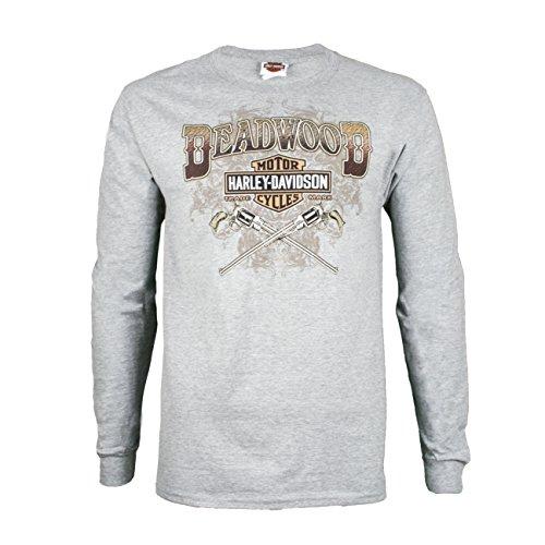 - Harley-Davidson Deadwood Men's Wild Bill Guns Long Sleeve T-Shirt (X-Large, Grey)