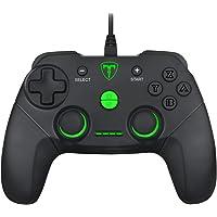 Controle Gamer USB T-Dagger Aries Nintendo Switch/PS3/PC Preto e Verde Com Vibração - T-TGP500