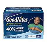 GoodNites Bedtime Bedwetting Underwear for Boys, L-XL, 34 Ct. (Packaging May Vary)
