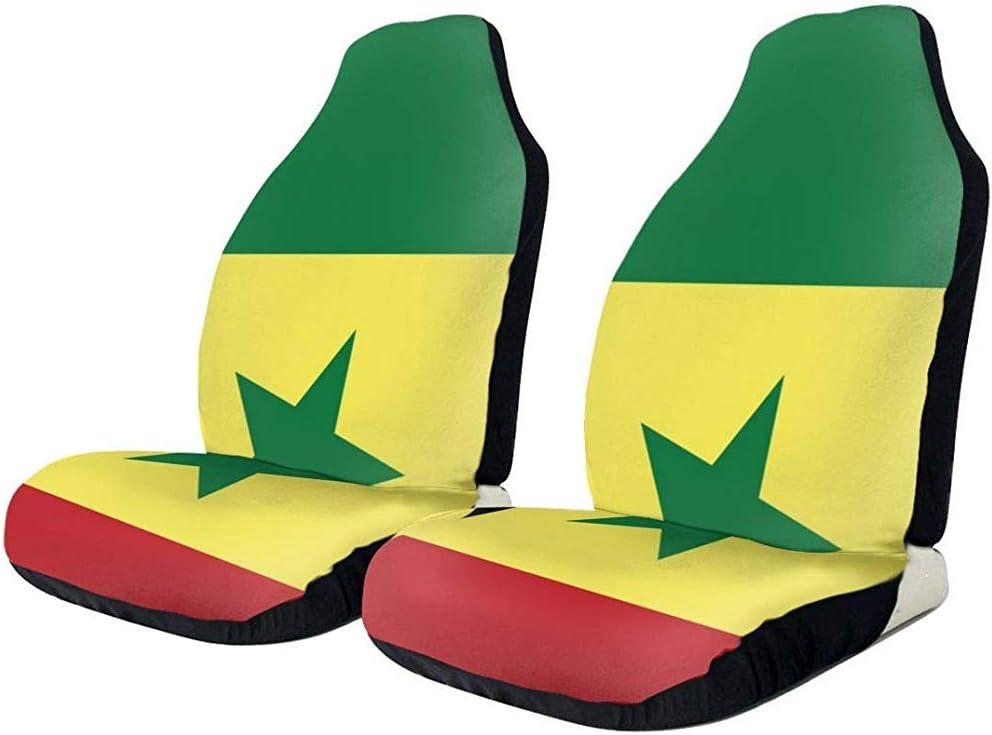 Sobre-mesa Senegal Flag Vordersitzbezug 1Pc Universal Fit