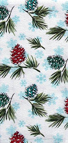 (Kay Dee Designs Icy Pinecones Terry Dish Towel)