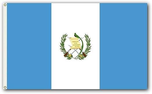 Guatemala Al aire libre Bandera - Grande 3 x 5, 2-lados resistente a la intemperie Poliéster: Amazon.es: Jardín