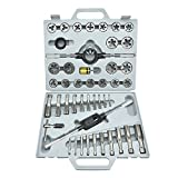 Neiko 00914A Tap and Die Set, SAE, Alloy Steel | 40 Piece
