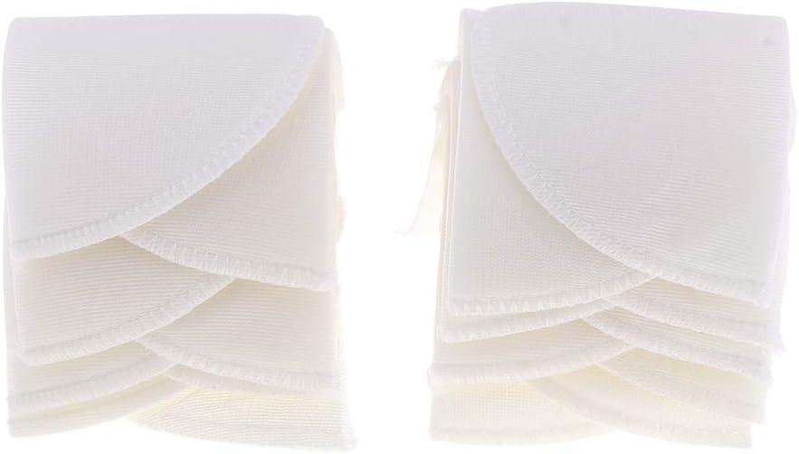 Perfeclan 6 Paires de /Épaulettes Coussin d/Épaule Couture DIY Blanche