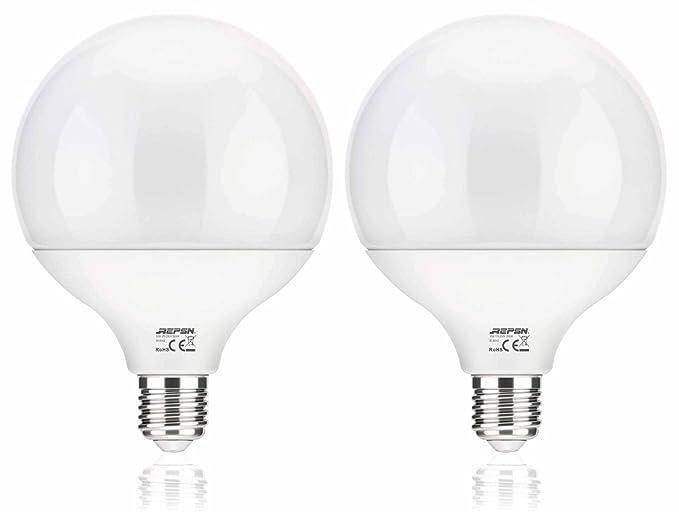 REPSN G120 E27 Bombilla LED de 16 W, equivalente a bombillas halógenas de 150 W, ...