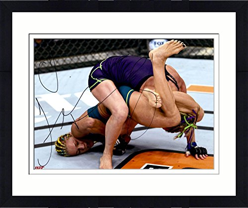 Framed Felice Herrig Ultimate Fighting Championship Autographed 16  X 20  Armbar Submission Photograph   Fanatics Authentic Certified