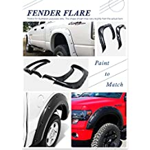 Pocket-Riveted Style ABS Black Fender Flares | 4pcs | For 1988-1998 Chevy/GMC C/K 1500 (Excl. Sport); 1992-1994 Blazer/Jimmy Full Size; 1992-1999 Suburban; 1992-1999 Yukon 2 Door; 1995-1999 Tahoe 2 Door
