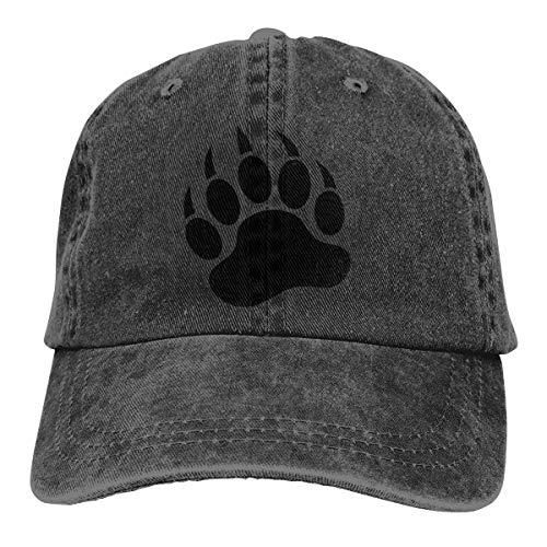 (Bear Claw Denim Hats Adjustable Baseball Cap Dad Hats)