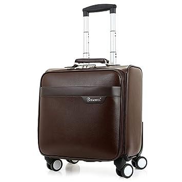 0cf4a422df12 GJF Small PU Wheeled Luggage, Universal Wheel Lightweight Chassis ...