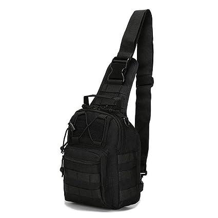 Men Nylon Shoulder Messenger Bag Military Tactical Hiking Day Back Chest Pack