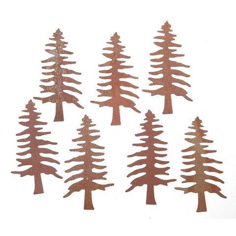 Bulk Buy: Darice DIY Crafts Rusted Tin Pine Tree 2 inches...
