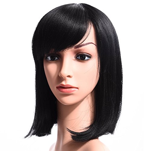 [Silike Synthetic Medium Length Straight Bob Wigs 14