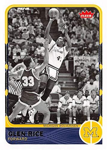 1b9f6e583ff Glen Rice Basketball Card (Michigan Wolverines) 2012 Fleer Retro #47 ...