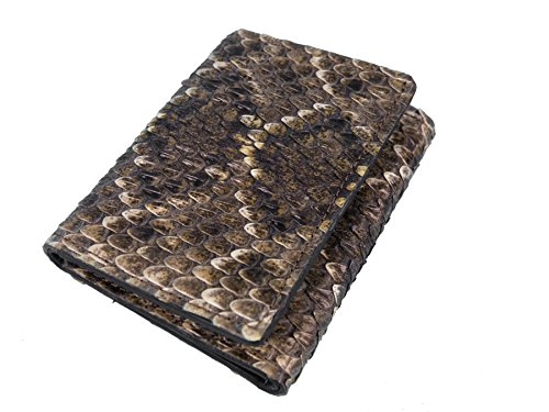 Genuine Rattlesnake Skin Wallet: Trifold (AZ-598-W302)