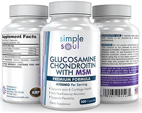 (Glucosamine+Chondroitin+MSM Joint Relief&Mobility- Premium Sulfate Formula.)
