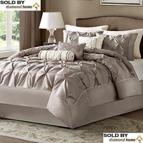 Amazon.com: Queen Size Comforter Set Luxury Bedding Collection 7 ...